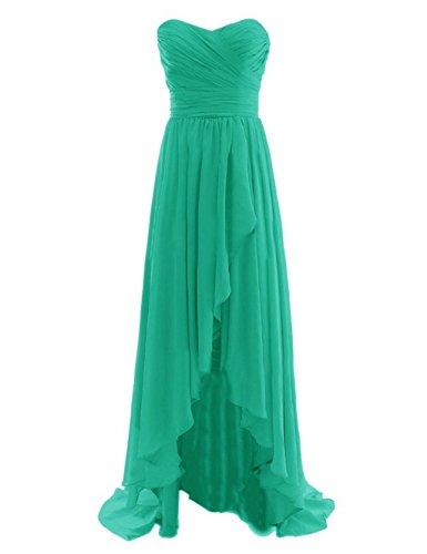 Chiffon Maxi Lang Green Brautjungfer Kleider Abendkleider Damen Fanciest 75nqvv
