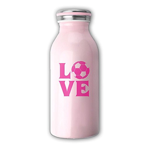Female Double Acts Costumes (COOL Soccer Female Design Stainless Steel Water Bottle Husdow Double Wall Vacuum Insulated Travel Camping Hiking Cycling Mug, Milk Bottle Shape For Kids, Girls One Size)