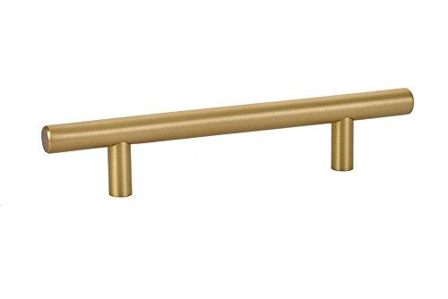 """Emtek Cabinet Bar Pull 86361 Satin Brass (5"""" C-C/7.5"""" Overall)"""