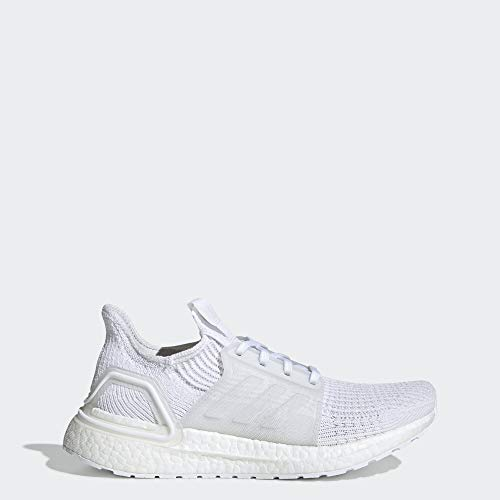 adidas Women's Ultraboost 19 Running Shoe, White/Grey/Black, 7.5 M US (Adidas A)