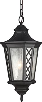 Feiss OL9511TXB 3-Bulb Outdoor Hanging Lantern, Textured Black Finish