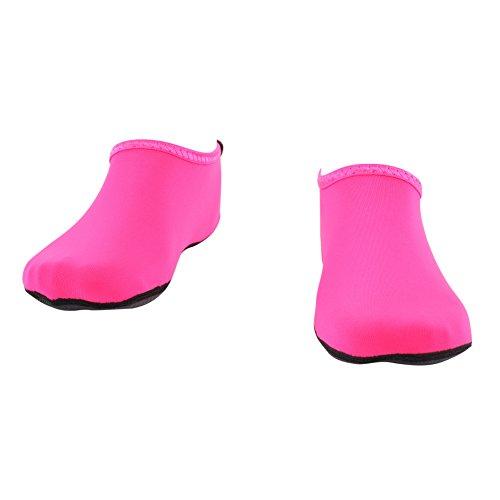 WOWFOOT Barefoot Water Skin Shoes Socks Women Men Flexible Swim Shoe Beach Aqua Surf Pool Yoga Exercise Pink 9vi9Xv