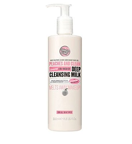 Peaches And Clean Deep Cleansing Milk 350Ml - Pack of 2 (Soap And Glory Peaches And Clean Boots)