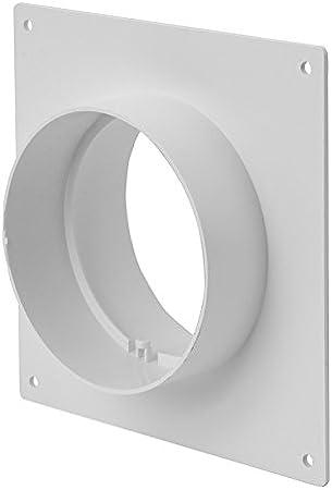 Europlast 100 mm conector de tubo de reborde de la pared - Montaje de tubo de ventilación tubular conector