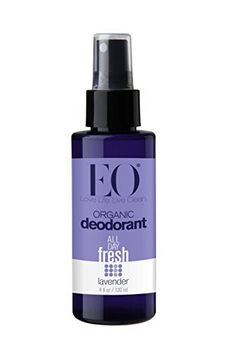 Eo Organic Deodorant Spray, Lavender, 4 Fluid Ounce ( 2-Pack)