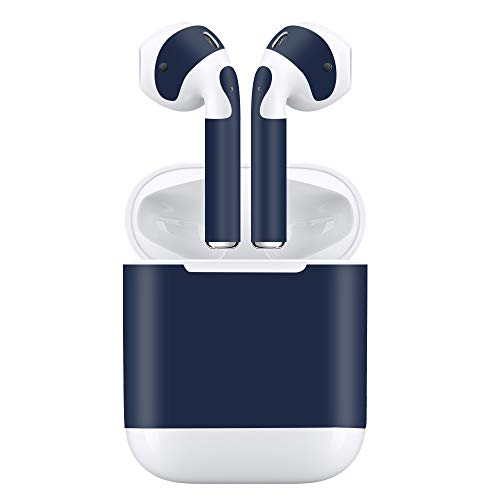 AirPods Skin 3M Vinyl Decal Protective Wrap Stickers Compatible with Apple AirPods Earbud and Charging Case (DEEP Blue) ()