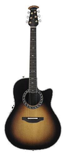 Ovation American LX Series 6 String Acoustic-Electric Guitar, Right, Sunburst (C2079LX-1)