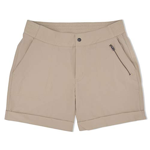 Swiss Alps Womens UPF 30+ Sun Protection Multi Pocket Mid-Rise Shorts, 5