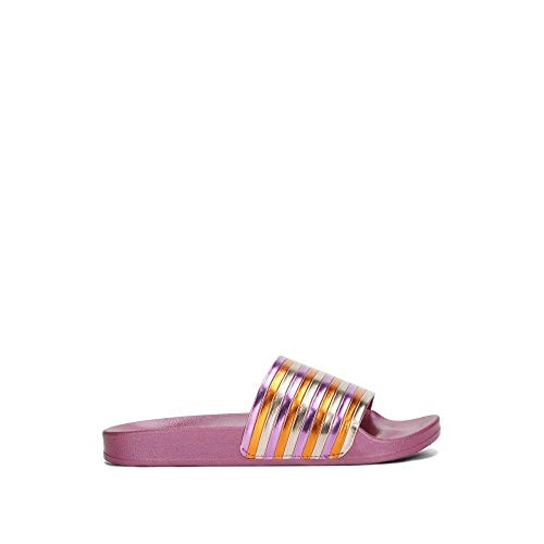 Kenneth Cole REACTION Women's Pool Sporty Slide Sandal with Piping Detail, Fuchsia, 9 M US