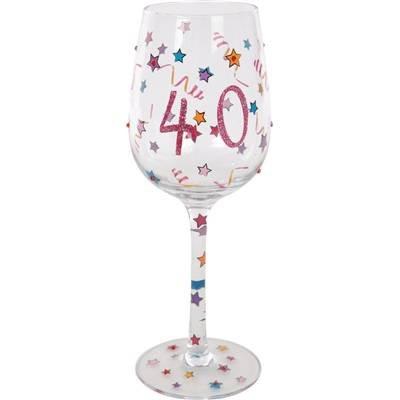 De cumpleaños 40th copa de vino: Amazon.es: Hogar