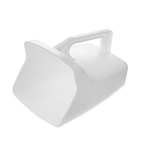 Rubbermaid Commercial Products Clear Bouncer Utility Scoop, 64-Ounce, Clear, FG288500WHT (Pack of 6)