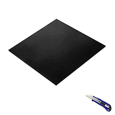 Rubber Sheet Black,Heavy Duty,11.8?x11.8?x0.059?, Gaskets DIY Material, Supports, Leveling, Sealing, Bumpers, Protection, Abrasion, Flooring