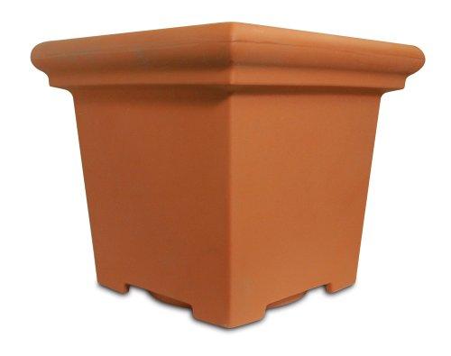 Italian Planter - Akro Mils TES24000E35 24-Inch Terrazzo Square Pot, Terra Cotta