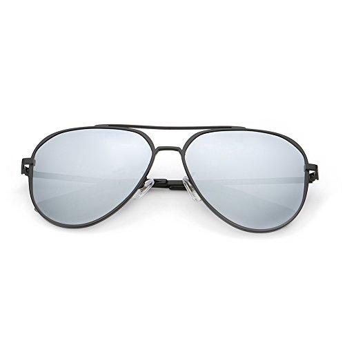 DONNA Unisex Retro Polarized Mirrored Aviator Sunglasses with Oversized Anti-glare Lens Double Bridge Unbreakable Frame - Sunglasses Bridge High