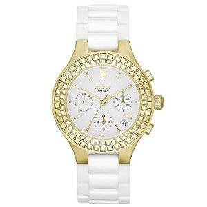 DKNY Chambers Large Ceramic Gold-Tone Chronograph with Glitz Women's watch #NY2224 by DKNY