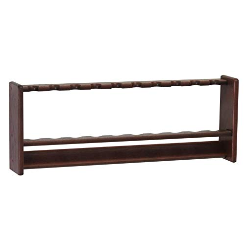 Wooden Mallet Pool Rack, 10 Cue, Mahogany