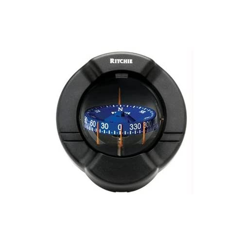 Image of Compass, Bulkhead, 3.75' Combi, Black Compasses