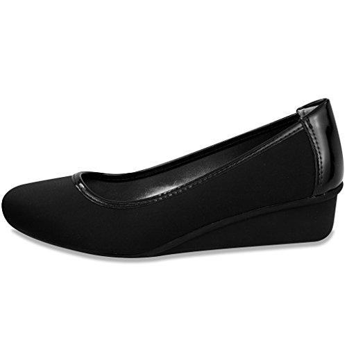 Image of London Fog Chester Dress Shoe Black/Neoprene 8