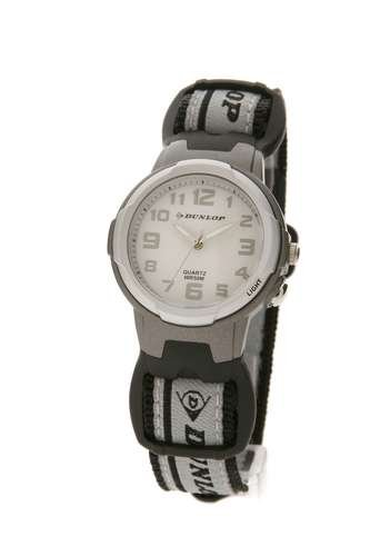 Dunlop DUN-26-M01 - Reloj analógico de mujer de cuarzo con correa textil negra - sumergible a 50 metros: Amazon.es: Relojes