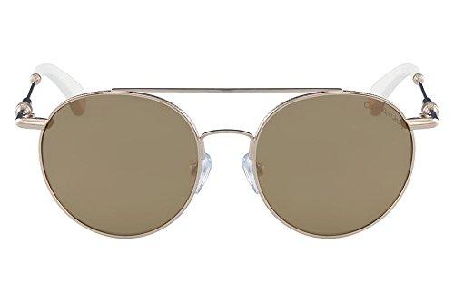 fe9fb954a Calvin Klein Jeans Unisex Round Gold Metal Sunglasses - CKJ163S 702  50-17-140mm