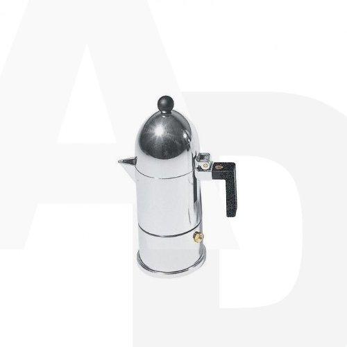 La Cupola Espresso Maker by Aldo Rossi Size: 1 cup, Handle Color: Black, Finish: Black