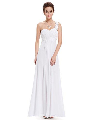 pretty Donna 09768 Vestito Bianco Ever Sera Abito Da Lungo xwPwOq7