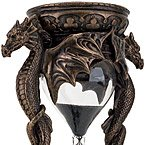 Dragon Hourglass - Cold Cast Bronze, Sand Timer Lasts for 5 Minutes, Medieval / Fantasy