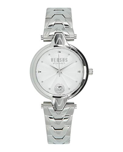 Versus by Versace Women's V Bracelet Quartz Watch with Stainless-Steel Strap, Silver, 18 (Model: SCI240017) (Versace Bracelet)