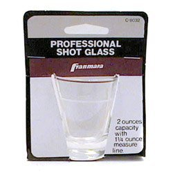 Shot Glass 2oz Carded, Ea, 04-0353 Franmara, Inc Bar Tools