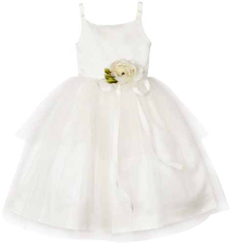 Us Angels Little Girls' Ballerina Inspired Dress, Ivory, 5 by US Angels