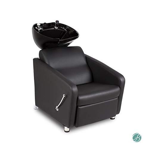 - KLYNE Shampoo Backwash Unit w/adjustable Footrest, Black Shampoo Unit & Shampoo Bowl with Faucet for Beauty Salon Styling
