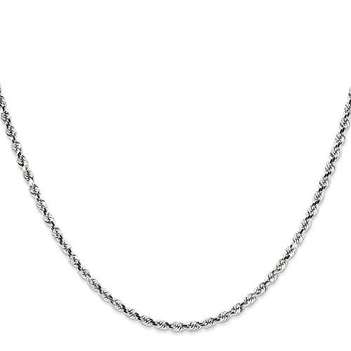 Core Gold 14k WG 2.9mm D/C Rope - Rope D/c Chain