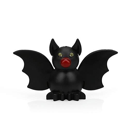 Morrivoe Cute Keyring Mini Black Bat Key Fob with LED Light and Sound Keychain Cartoon Key Holder for Children Kids Toy Gift