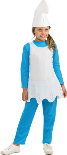 80s Cartoon Character Fancy Dress Costumes (The Smurfs Movie 2 Smurfette Costume, Small)