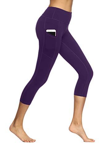 (Fengbay Capris Leggings, Capris Yoga Pants Tummy Control Workout Running 4 Way Stretch High Waist Capris Workout Leggings)