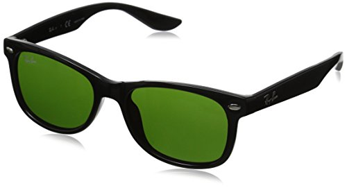 Ray-Ban Junior 0RJ9052S Square Sunglasses, Shiny Black Green, 47 mm f196ae2ee947