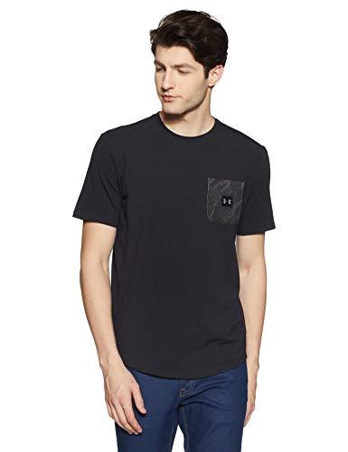 Under Armour Men's sportstyle Print Pocket Tee, Black (001)/Black, Large