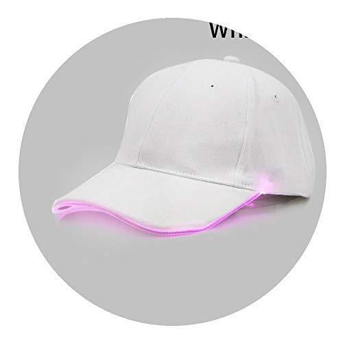 Shpflae New Punk Style LED Light Baseball Cap Hat Luminous Cap Fashion Snapback Hat Fiber Optic ()