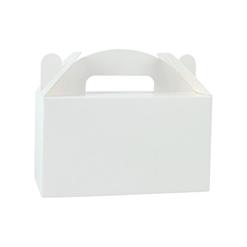 eat Gift Boxes - 4 x 2.5 x 2.5 inches White Paper Box Recycled Kraft Gift Box Birthday Party Shower Favor Box ()
