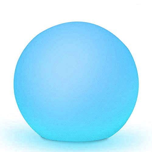 Obell 30CM LED Solar Ball Light 10 Colors Floating Pool Light Outdoor Waterproof Globe Light Garden Solar Lamp Post Light Pool Party (12 inch Solar Ball Light)