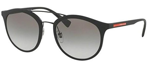 Prada Sport PS04RS DG00A7 Matte Black PS04RS Round Sunglasses Lens Category 2 S ()