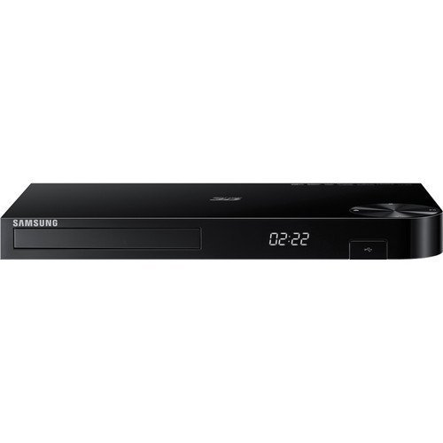 Samsung 3D Blu-ray DVD Disc Player With 1080p & Full HD Upconversion Plus Built-in Wi-Fi , Plays Blu-ray Discs, DVDs & CDs, Plus CubeCable 6Ft High Speed HDMI Cable, Black Finish