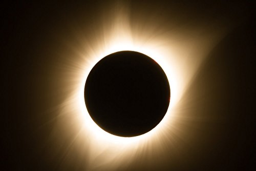 Solar Eclipse 2017 Photography Print - Picture of Total Eclipse at Totality with Bright Corona in Nebraska Science Sky Home Decor 5x7 to 30x45 August Moon Outdoor Wall