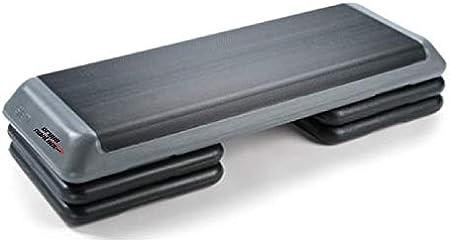 Grupo Contact Step Aerobic, Profesional con 4 Alturas (escalones) Color Negro/Gris Medidas: 110 x 42 x 21 cm.