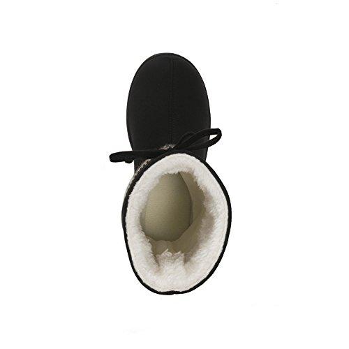 Dearfoams Womens Stepout Toffel Boot - Svart 8