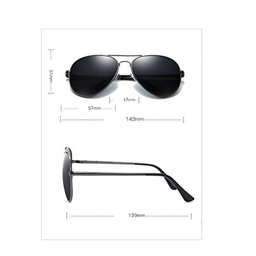 100 Hombres Conducción 6 de de aleación Al Sol Marco para Color 2 UV TP polarizado Gafas Superlight MG polarizadas de Rectangular z4wYnXnaqR