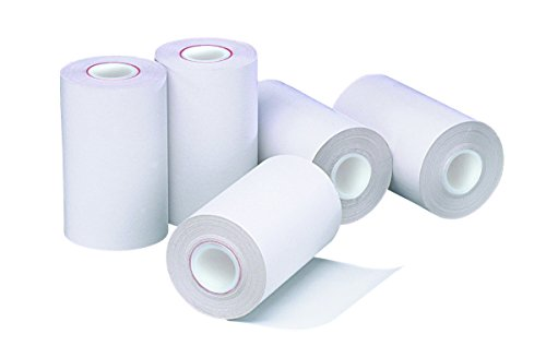 PM Company POS/Cash Register One-Ply Thermal Rolls, 2-1/4 x 55 Feet, 5 Rolls per Pack, White (05262-pack)