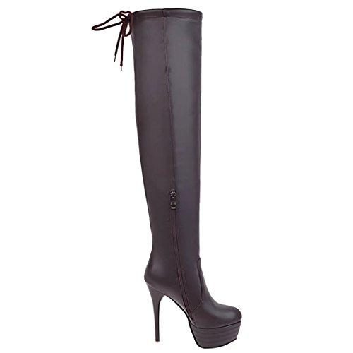 AIYOUMEI Women's Classic Boot Brown IMf6G