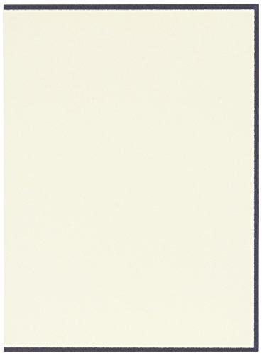 Crane & Co. Navy Bordered Fleur De Lis Ecruwhite Note (CF1429) (Cranes Greeting Cards)