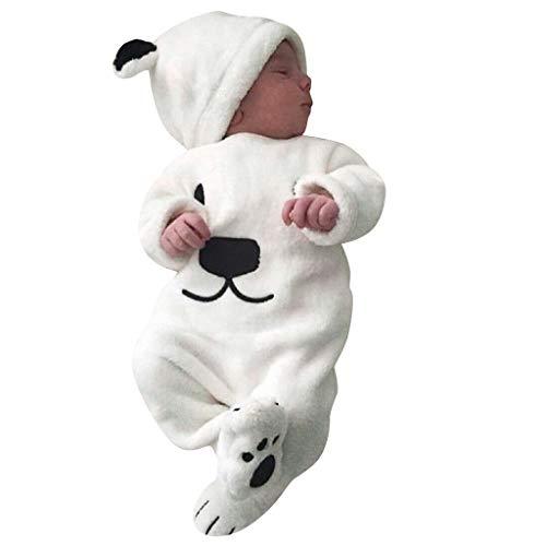 Mousmile Newborn Baby Boys&Girl Snowsuit for Infant Soft Cotton Cute Pajamas Jumpsuit (3-6 Months)